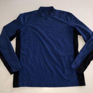 Lands end blue long sleeve navy swim Shirt m 38-40